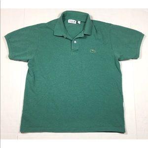 Lacoste Green Short Sleeve Polo Shirt Men's Large